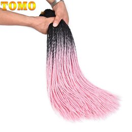 "$enCountryForm.capitalKeyWord NZ - TOMO Synthetic Braiding Hair extensions Senegalese Twist 24"" Long Pure Ombre Pink Purple African American Woman Crochet braids 30Roots pack"