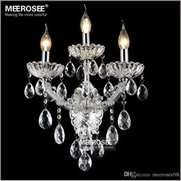 Discount wall brackets lighting - Maria Theresa Crystal Wall Sconces Light Fixture Small Crystal Wall Lamp for Bedroom Living room Crystal Bracket MD8475