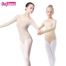 5b7b4d65a005 Girls Adult Nude Leotard Ballet Underwear Long Sleeve Skin Leotards Women  Ballet Gymnastics Leotards