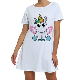 Chinese  Women Clothes 2018 Plus Size Unicorn Round Neck Pajamas For Women Ladies Cute Animal Pyjama Summer Sleepwear Pijama One Piece S1015 manufacturers