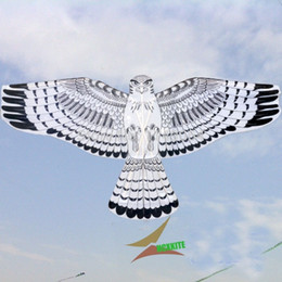 flying bird toy wholesale 2019 - free shipping high quality 2pcs lot eagle kite with handle linediy kite flying outdoor toys birds paragliding white fact
