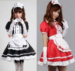 c43b8948900 Wholesale-Japan Hot Anime Akihabara Cosplay maid Costume Cute Girls Dark  Black Lolita Dress skirt lolita school tulle sexy cosplay S-XXXL