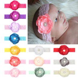 $enCountryForm.capitalKeyWord NZ - Newborn Flower Lace Headband Baby Hair accessories Elastic Soft Pearl rhinestone 13 Colors Cheap Wholesale 2018