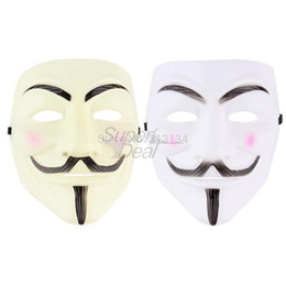 V Vendetta Cosplay UK - Cosplay Mask V For Vendetta Mask Anonymous Movie Guy Fawkes Halloween Masquerade Party Face March Protest Costume Accessory hot