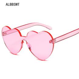 $enCountryForm.capitalKeyWord NZ - 2018 New Fashion Love Heart Sunglasses Women Cute Sexy Rimless Cat Eye Vintage cheap Sun Glasses Cool Candy Color Female UV400