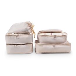 6 unids Wobag colección paquete impermeable paquete de ropa portátil bolsa de clasificación bolsa de embalaje bolsa de viaje organizador de equipaje portador