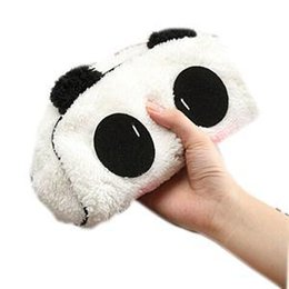 Chinese  1PCS Cute Cartoon Cat Panda Shape Soft Plush Cosmetic Makeup Bag Pouch Pen Pencil Case Organizador manufacturers