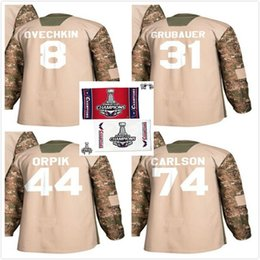Mens Youth Camo 2018 Stanley Cup Final Champion Capitals Hockey Jerseys  Alex Ovechkin 44 Brooks Orpik 74 John Carlson 31 Philipp Grubauer 6dbf0c4b4