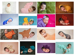 $enCountryForm.capitalKeyWord Canada - Infant newborn photography Children's Multi-Color plain yarn photographic clothing Wrapped in cloth Cotton stretch wrap Baby photo prop