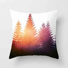 $enCountryForm.capitalKeyWord NZ - Super Soft Short Plush Pillowcase Ink Painting Landscape Series Sofa Pillow Case Cushion Cover 45*45CM Home Office Decor Gift for Friend