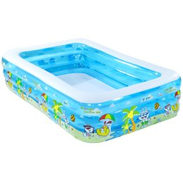 Swim Pool Family UK - High quality thickening children's inflatable swimming pool family super large ocean ball pool large adult playing