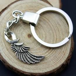 Insect Wings NZ - 6 Pieces Key Chain Women Key Rings Car Keychain For Keys Wing 31x15mm YSK-B13118
