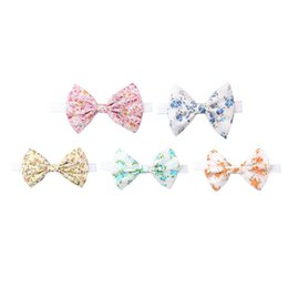 Infant Hair Styles UK - New and Natural style Hair Accessories Bow Knot Baby Girl Headbands Elastic Multicolor Infant Baby Headwear