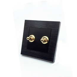 Toggle swiTch way online shopping - Black color magnalium panel wall switch and A V lamp switch and gang way way toggle switch