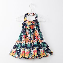 2646cbeda49 2018 Summer Baby Girls Dresses Floral Printed Sundress for Girls Beach  Holiday Children Dress Kids Clothes Hot Sales
