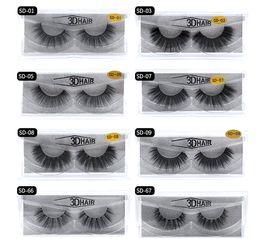 Top False Eyelashes Australia - 2018 Top 11 styles Selling 1pair lot 100% Real Siberian 3D Mink Full Strip False Eyelash Long Individual Eyelashes Mink Lashes Extension