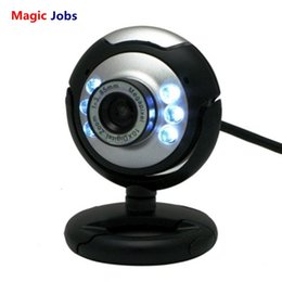 Wholesale Magic_jobs usb webcam de alta definição 12.0 mp 6 led night light web camera buit-in mic clipe cam para pc desktop laptop notebook computador