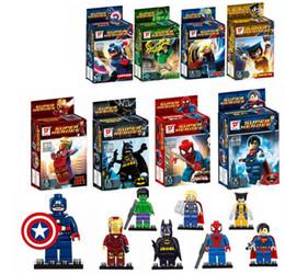c71db975888 Bloques de construcción de superhéroes ensamblados juguetes juguetes  educativos para niños SY180 niños niñas juguetes regalos