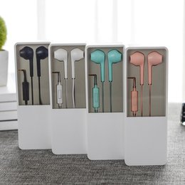 BlackBerry mute online shopping - New In Ear Mini earphones mm audio cable earsets with mute control candy colors own design