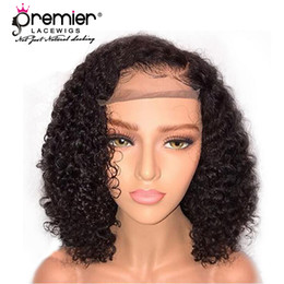 Long hair bobs online shopping - PREMIER WIGS Glueless Lace Front Wigs Brazilian Remy Human Hair Short Bob Density Natural Hairline With Babyhair Lace Wig For American