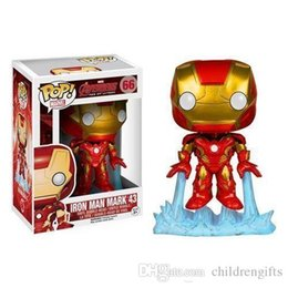 Iron Man Mini Toys NZ - Funko Pop Iron Man Mark 43 Avengers Age of Ultron Bobble Head Vinyl Action Figure with Box #177 Toy Gift