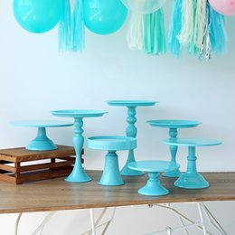 $enCountryForm.capitalKeyWord Australia - wholesale Baby blue cake stand cupcake tray cake tools home decoration dessert table decorating party suppliers 3 tiers birdcage