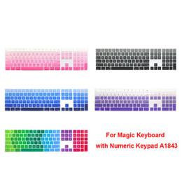 Ingrosso Protezione della tastiera della tastiera del silicone per la tastiera magica di Apple con tastiera numerica A1843 MQ052LL / un rilasciato nel 2017