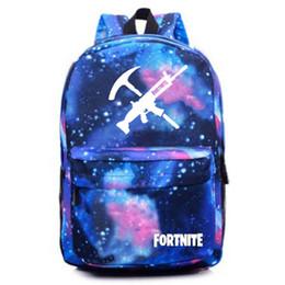 091735427ee8 Game Fortnite Backpack Blue Galaxy Bag Schoolbag Student School Bags for Teenage  Girls and Boys School Backpack Bagpack