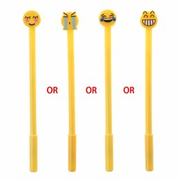 emoji stationery UK - 2018 1 Pc Cute Cartoon Ball Point Pen Ballpoint Emoji Creative Gel Pen Office School Stationery Student Supply Gift for Children