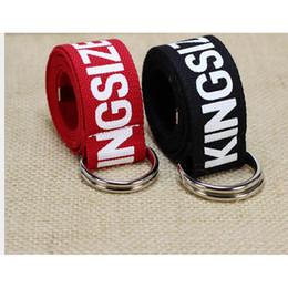 $enCountryForm.capitalKeyWord Canada - 2018 Best YBT Unitsex Canvas belt D shaped double ring buckle belt Fashion cotton canvas simple letters men & women cowboy