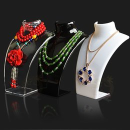 display show jewelry Canada - New and Hot Sale Three Colors 20*13.5*6cm Mannequin Necklace Jewelry Pendant Display Stand Holder Show Decorate Retail
