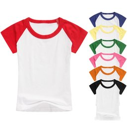 Kids T-shirt custom made children splicing short sleeves shirts children  kids cotton tops boys girls raglan shirts children clothing NC115 3ac46d8bc
