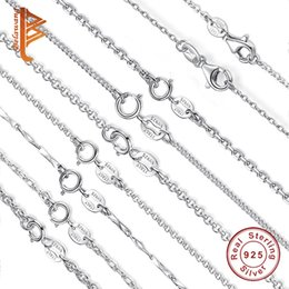 Discount summer simple necklaces - BELAWANG Real 100% 925 Sterling Silver Adjustable Basic Chain Necklace for Women Lobster Clasp Simple Necklace Summer Je