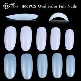 fake nails white tips NZ - 500pcs Oval Full Round Acrylic False Nails Clear Nature White French Nail Tips Artificial Fake Nails Art Tips Decorations Salon Y18101101