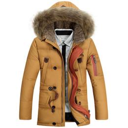 Natural yellow hair online shopping - Winter Jacket Men High Quality Men s Long Down Coat Fashion Big Hair Collar Thicker Warmth Hooded Leisure Park Jacket Fur