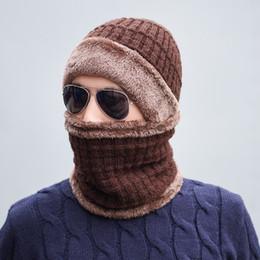 Warm Male Beanies NZ - Seioum Winter Skullies Beanies Men Scarf Knitted Hat Caps Male Mask Gorras Bonnet Warm Winter Hats For Men Women Beanies Hats