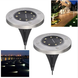 8LED Solar Powered Ground Light impermeable jardín Pathway cubierta luces con lámpara solar para Home Yard Driveway Lawn Road en venta