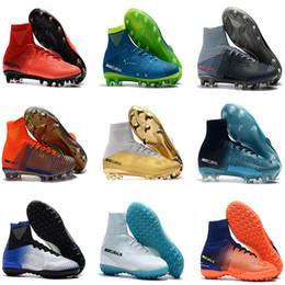 8b69c1af3 Kids Soccer Shoes Mercurial Superfly CR7 V AG FG Football Boots Ronaldo High  Ankle Magista Obra II ACC Neymar JR Children s Soccer Cleats
