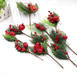 China 1 pcs Artificial Flower Stamens Pearl Branches Mixed Berry For Wedding Decoration DIY Christmas Party Decorations Gift Box cheap pearls for flower decorations suppliers