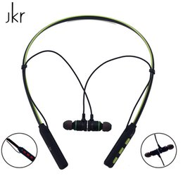 $enCountryForm.capitalKeyWord UK - Original JKR-301A Bluetooth Earphone Wireless Sport Headset Neckband earphones with Mic Stereo Earbud For iPhone Samsung Xiaomi
