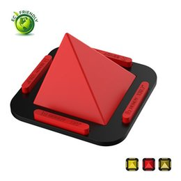$enCountryForm.capitalKeyWord UK - Pyramid Cell Phone Mount Bracket Anti-Slip Silicone Dash Mat 4 Angles Table Stand for Phones, Tablets, GPS Navigator DHL Free