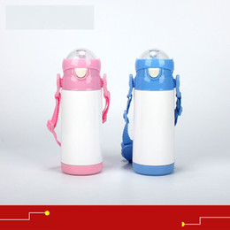 Customized Cups NZ - stainless steel vacuum cup for sublimation Vacuum cup for kids diy personalized customized child cups with suction pipe wholesales