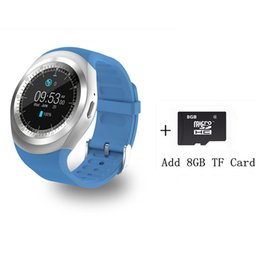 2fb68bdce8a Bluetooth Smartwatch Y1 Smart Watch Support Reloj Relogios 2G GSM SIM App  Sync Mp3 For Apple iPhone Xiaomi Android Phones Black
