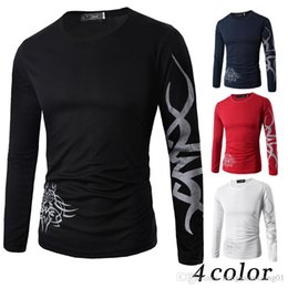 3427610ad93 Long Sleeve Tattoo T Shirts NZ - New style European and American Tattoo  printing round neck