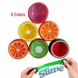 Crystal slime online shopping - DIY Magic Crystal Slime Putty Polymer Clay Toy Soft Rubber Fruit Slime for Kids Intelligent Hand Plasticine Mud Playdough Gift
