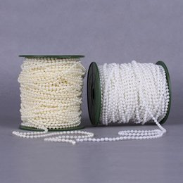 Beads for stringing online shopping - 2 Color meters mm Pearl Spray Strands Garland Spool Bridal Beads String for Wedding Christmas Party Centerpiece Favor Crafting Decor