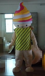 pink fancy dress costumes Canada - 2018 Discount factory sale Ice Cream Mascot Costume Character COS Ice Cream Fancy Dress Costume Cartoon Birthday xmas Event Mascots