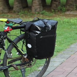 Black Bike White Seat Australia - Waterproof Mountain Bike Rear Bag Pannier Bicycle Cycling Double Side Tail Seat Trunk Bag Pannier MTB Road Carry Bags 3Colors