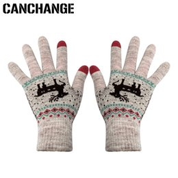 $enCountryForm.capitalKeyWord NZ - CANCHANGE Fashion Touch Screen Gloves Women Stretch Knitted Deer Pattern Gloves Mittens Winter Warm Accessories Wool Guantes
