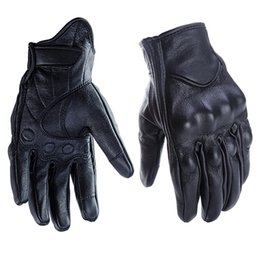 gloves motorcycle motorbike 2019 - Cycling Motorbike Gloves Protective Gears Not Perforated Leather Motorcycle Gloves Motocross Glove Winter Man Female che
